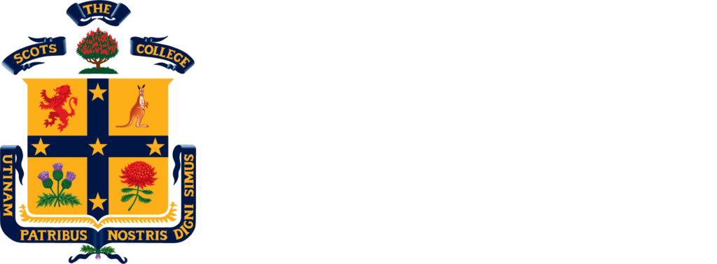 The Scots College logo reversed