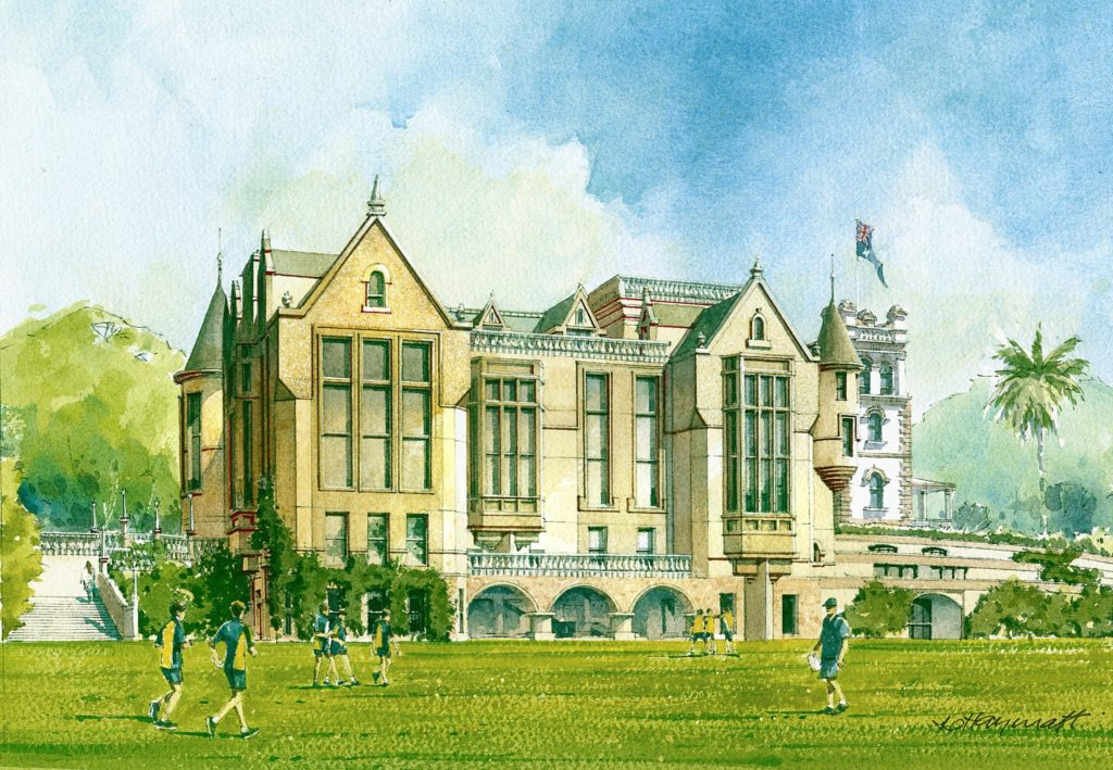 Stevenson Library water colour render 1
