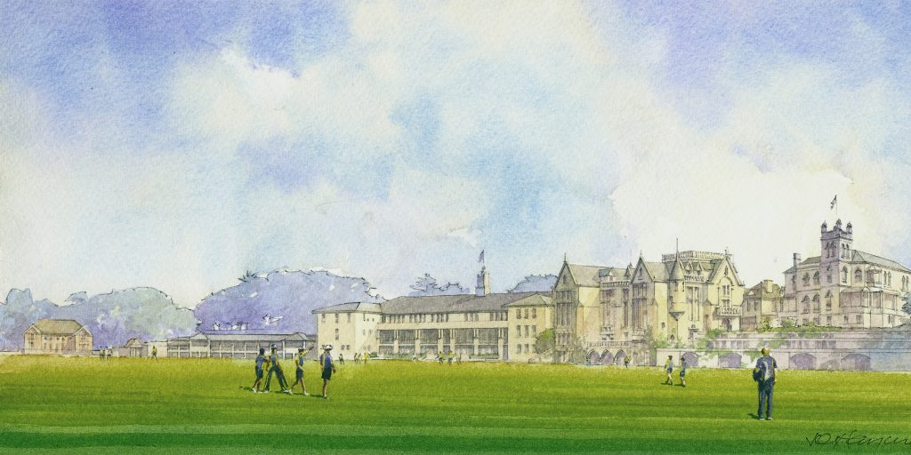 Stevenson Library watercolour render 2 panorama