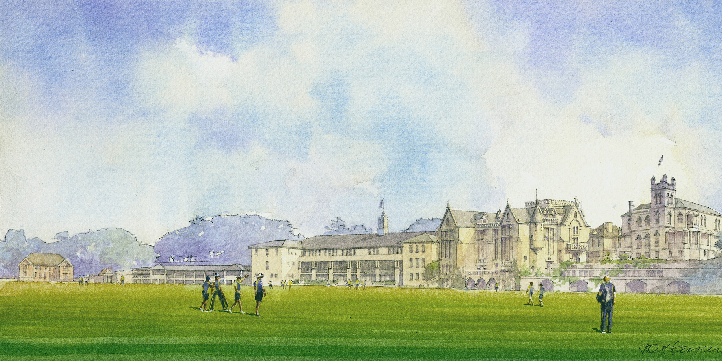 Stevenson Library watercolour render 2 panorama